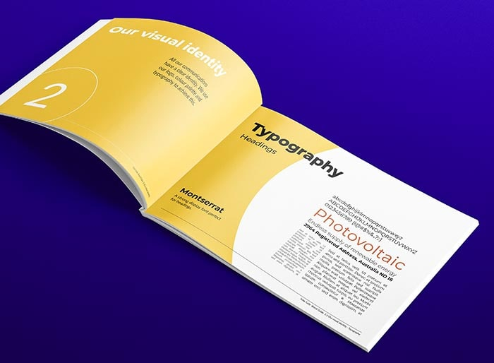 Corporate Style Guide Type Page